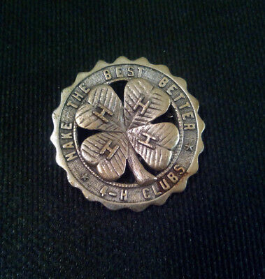 pin badge * 4-H CLUBS * MAKE THE BEST BETTER *