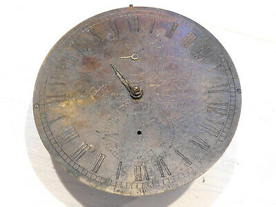 Antique English Fusee Detent Marine Chronometer Movement With 24 Hour Dial.