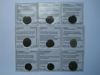 Lot of 37 ancient Roman & Greek coins with flips