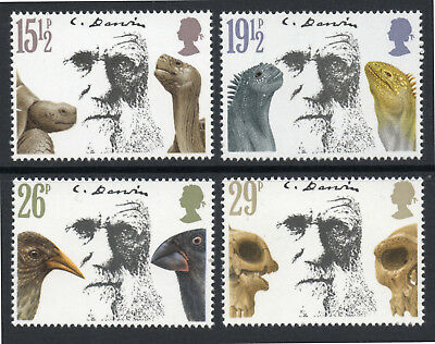 GB 1982 Death Centenary of Charles Darwin Set of 4. SG 1175-1178. MNH.