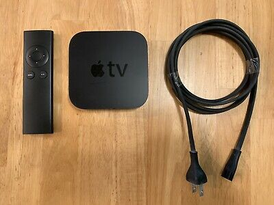 Apple TV (3rd Generation) 8GB HD Media Streamer - A1469 With Compatible Remote