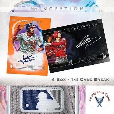 PHILADELPHIA PHILLIES - 2019 Topps Inception 4x Box - 1/4 Case Break