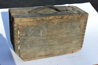 30 Cal. Wooden Ammo Box Early, 1917 / 1919 Browning WW1 / WW2