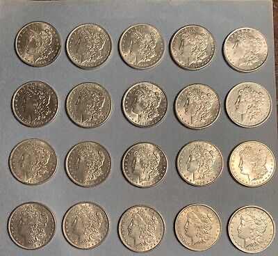 Lot of 20 Morgan Silver Dollar with 1888 O Hot Lips