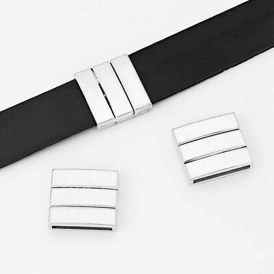2Sets Silver Strong Magnetic Clasp For Up To 20*2.5mm Flat Leather Cord Findings