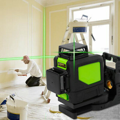 3D Rotary Laser Level Green Laser Light 8 Lines for Cutting Plates & Decoration