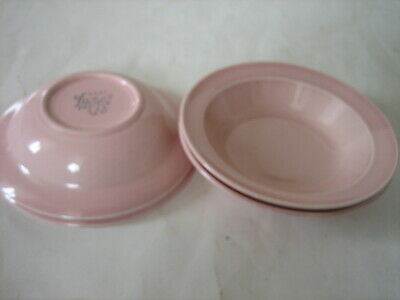 4 Vintage T.s.& T. Lu-Ray Luray Pink Pastels U.s.a.  Fruit Berry Bowls