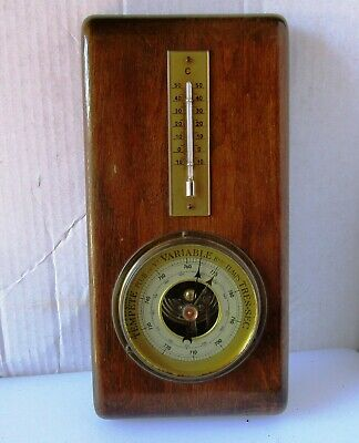 Lovely Timber Barometer and Thermometer from SFV