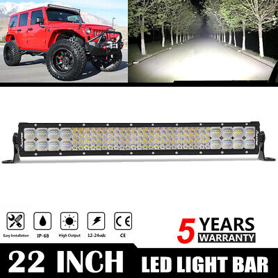 22Inch 22'' 288W Led Light Bar Worklight Fog Lamp Combo Beam Offroad For Jeep US