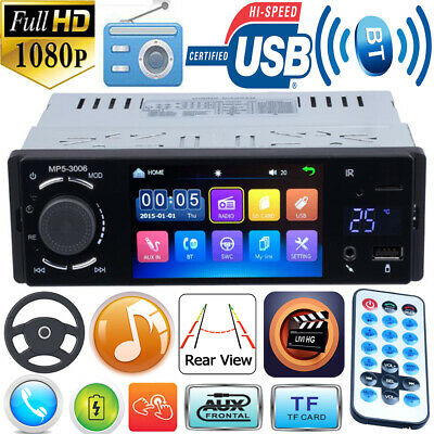 4.1in Touch Single 1DIN Bluetooth Car Stereo MP5 Player FM Radio USB Disk TF AUX