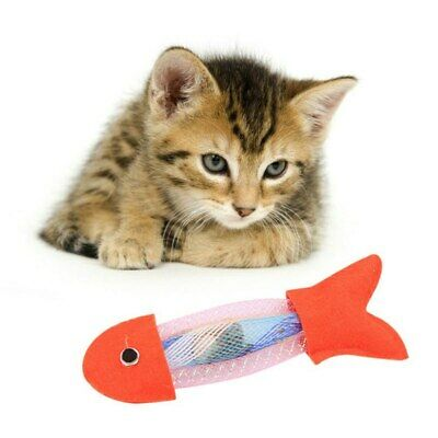 Fish Shape Cat Toy Cat Hose Spring And Canvas Woven Fish Toy Interactive Gifts