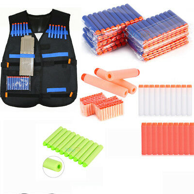 100X Soft Darts Tactical Vest Gun Clip Foam Bullet Holder For Kids Toy Xmas Gift
