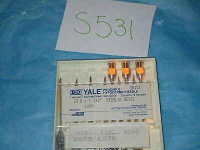 "BD Yale Reusable Hypodermic Needle 18 G X 1 1/2"" Regular Bevel 9 Pack"