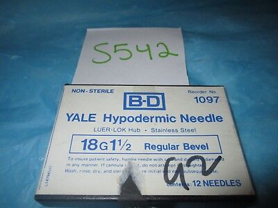 "BD Yale Hypodermic Needle 18G X 1 1/2"" Pack of 12"