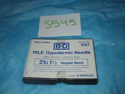 "BD Yale Hypodermic Needle 21G X 1 1/2"" Pack of 10"