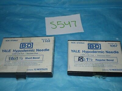 "BD Yale Hypodermic Needle 16/18G X 1 1/2"" Pack of 8 Mixed"