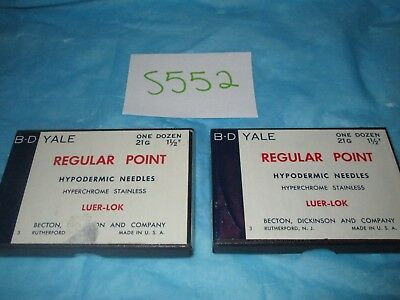 "BD Yale Hypodermic Needle 21G X 1 1/2"" Lot of 16"