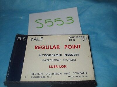 "BD Yale Hypodermic Needle 19G X 1 1/2"" Pack of 11"