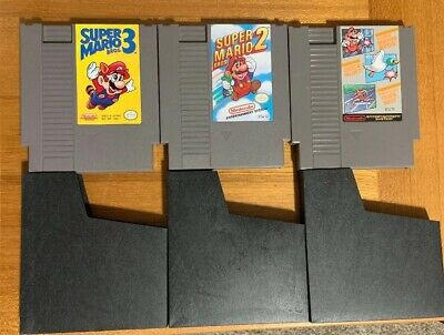 Super Mario Bros 2 3 World Class Track Meet DuckHunt Nintendo NES Video Game Lot