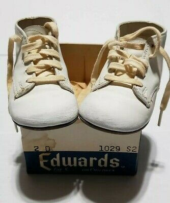 Vintage Edwards Todlins Shoes Size 4 with box no lid
