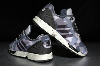 7786a661d97af New Adidas ZX Flux Decon Camo Mens M19685 Grey Black Running Shoes Size 12