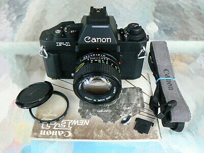Canon F-1N Camera W/Canon 50Mm F1.4 Lens & Ae Finder *Pro 35Mm Slr Camera *Mint-