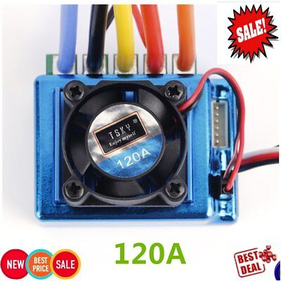 120A ESC Sensored Brushless Speed Controller For 1/8 1/10 CarFree DeliveXV