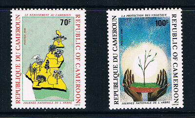 Cameroon stamps, 1986 National Tree Day #1143-4, Scott 831-2 MNH