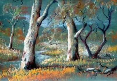 Julie Duell Original Artwork Landscape Pastel Drawing