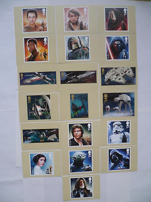 Star Wars - Complette 19 Stamp Cards - Great Britain 2015