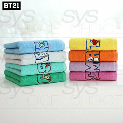 BTS BT21 Official Authentic Goods Bath Cotton Towel Wappen Badge Ver 40 x 80cm