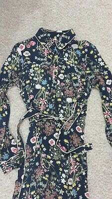 Floral Midi Dress Size 8 *Button neck, Collar & Tie Waist*