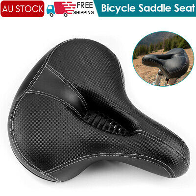 Road MTB Mountain Bike Bicycle Saddle Spring Seat Soft Padded Cushion Cover AU