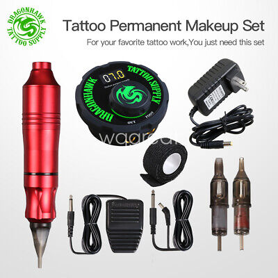 Tattoo Pen Rotary Machine Set Kit Power Pedal Permanent Makeup Assortment