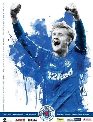 Rangers v Kilmarnock 2018/19 new football programme