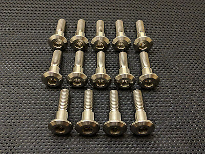 Triumph Street Triple Titanium Full Brake Disc Bolt Set 08-17 Ti Rotor Bolts