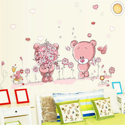 bear wall stickers children room decor baby shower adhesive for kids room^s