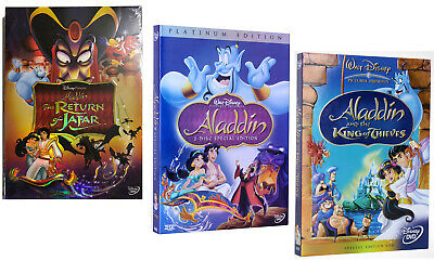 Aladdin Trilogy: (Platinum Edition, King of Thieves, Return of Jafar) 1 2 3 New