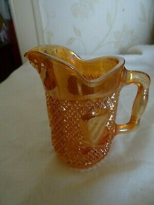 Antique/vintage Carnival glass milk/cream jug lustre finish 225 ml