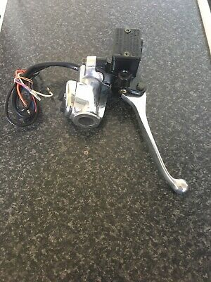 Lambretta Italian Switch Housing And Master Cylinder With Switch And Screws