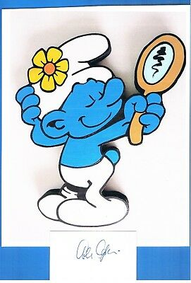 Photo Vanity Smurf Hand Signed Autographed Card Alan Oppenheimer voice of Vanity