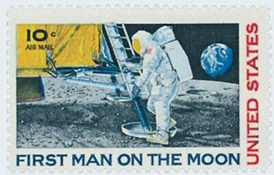 C76 - Man on the Moon - US Mint Airmail Stamp