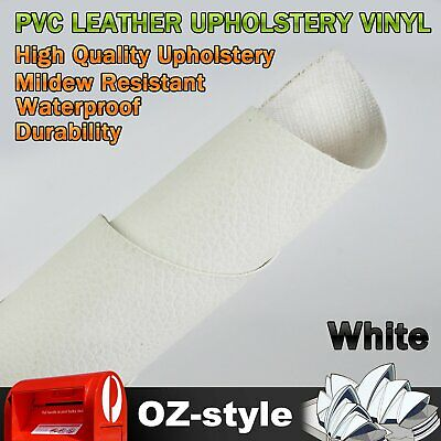 Upholstery Synthetic Leather White Vinyl Fabric Material Car Interior Seat Cover