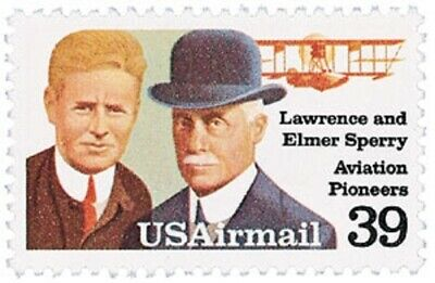 C114 - Lawrence & Elmer Sperry - US Mint Airmail Stamp