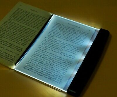 Creative LED Book Light Reading Night Light Flat Plate Portable