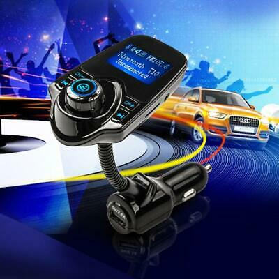 Trasmettitore FM BLUETOOTH WIRELESS T10 KIT Auto Vivavoce Lettore MP3 USB CHARGE