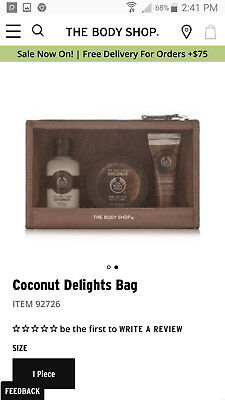 THE BODY SHOP Coconut Delights Christmas Collection 3 pieces NWT!