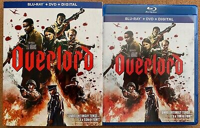 Overlord Blu Ray Dvd 2 Disc Set + Slipcover Sleeve Free World Wide Shipping Buy