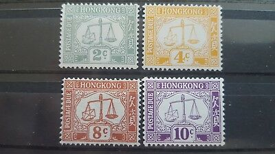 Hong Kong Classic Stamps Porto Due Stamps Mh 1938 Minr 6-7-9-10