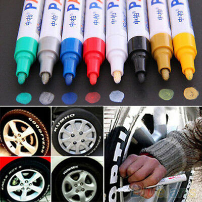 12 Colors Paint Pen Marker Car Tyre Tire Metal Permanent Pens Universal